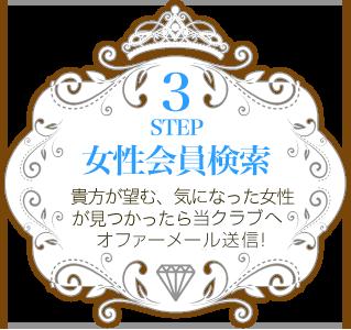 STEP3 貴方が望む、気になった女性が見つかったらオファー希望のメールを送信!